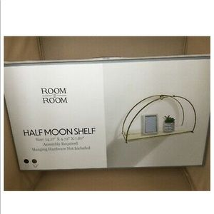 Gold half moon shelf easy to assemble